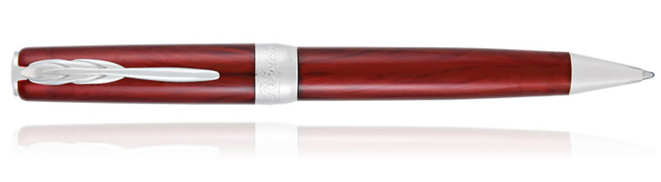 Pineider Full Metal Jacket Ballpoint Pens in Army Red