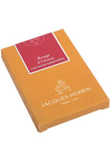 Jacques Herbin Essentials Pen Carrying Cases in Rouge d'Orient
