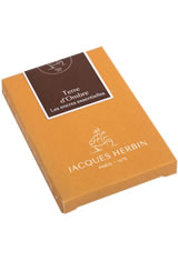 Jacques Herbin Essentials Pen Carrying Cases in Terre d'Ombre