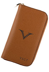 Visconti Three Pen Carrying Cases in Cognac