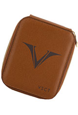 Visconti Six Pen Carrying Cases in Cognac