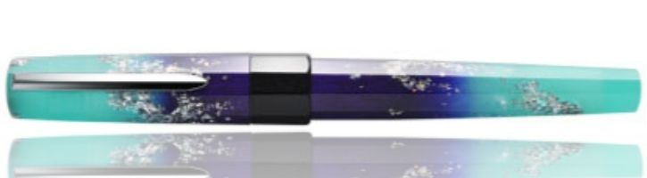 Benu Euphoria Collection  Fountain Pens in Ocean Breeze (Luminescent)
