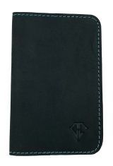 Midnight Blue Dee Charles Designs Leather Notebook Cover for Memo & Notebooks