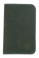 Dee Charles Designs Leather Notebook Cover for Memo & Notebooks in Olive Blue