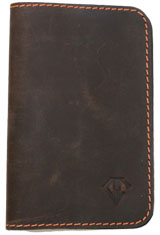 Rawhide Orange Dee Charles Designs Leather Notebook Cover for Memo & Notebooks