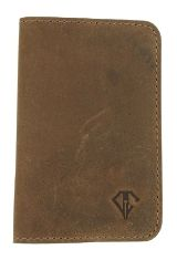 Saddle Brown Dee Charles Designs Leather Notebook Cover for Memo & Notebooks
