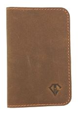 Saddle Orange Dee Charles Designs Leather Notebook Cover for Memo & Notebooks