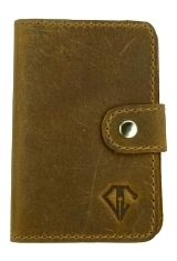 Saddle Brown / Refillable Dee Charles Designs Leather Pen Wipe Pen Care Supplies