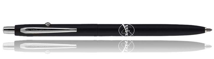 Fisher Space Pen Shuttle with NASA Meatball Logo Ballpoint Pens in Matte Black