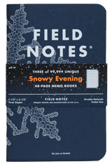 """Field Notes Winter Limited Edition """"Snowy Evening"""" 3-Pack Memo & Notebooks"""