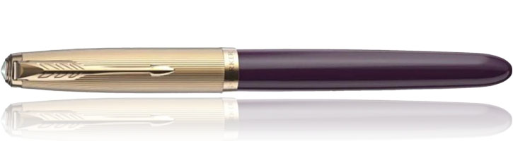 Parker 51 Deluxe Fountain Pens in Plum