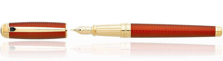 S.T. Dupont Line D Firehead Guilloche Fountain Pens