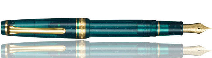 Sailor Professional Gear Slim Blue Green Nebula Fountain Pens