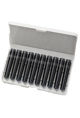 Black TWSBI 10 pk Standard International Size Ink Cartridge Fountain Pen Ink