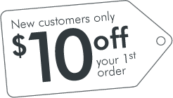Save $10 Off your first order!